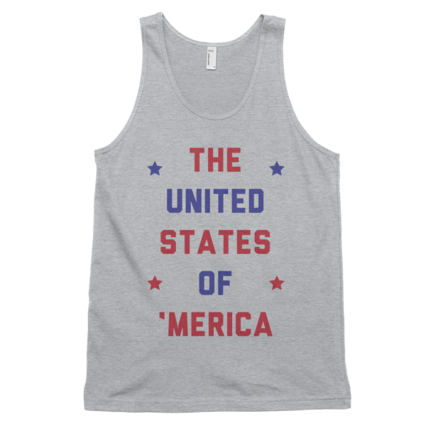 The United States of 'Merica Tank | Unisex White Tank | Eternal Weekend - 3