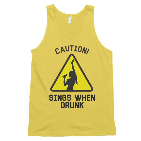 Caution Sings When Drunk Tank Top | unisex coral Tank | Eternal Weekend - 4