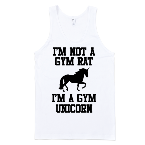 Im Not A Gym Rat I'm A Gym Unicorn Classic tank top (unisex) | Unisex Gray Tank | Eternal Weekend - 2