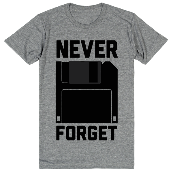 Floppy Disks - Never Forget | Unisex Gray T-Shirt | Eternal Weekend - 1