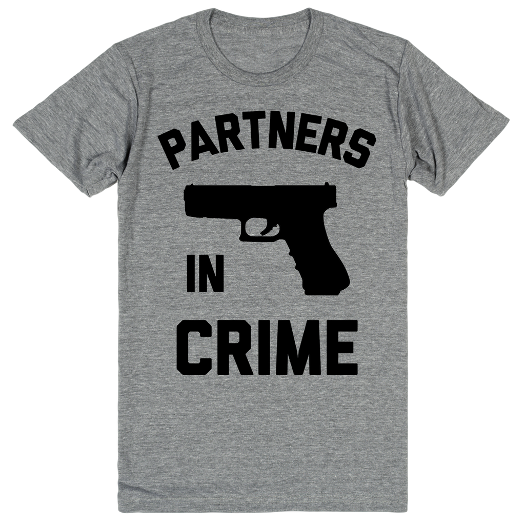 Partners in Crime - Best Friend Shirts - BFF 2 of 2 | Unisex Gray T-Shirt | Eternal Weekend - 1