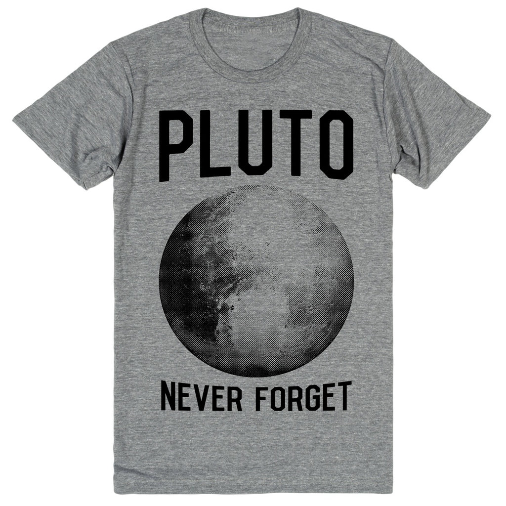 Pluto: Never Forget | Unisex Gray T-Shirt | Eternal Weekend - 1