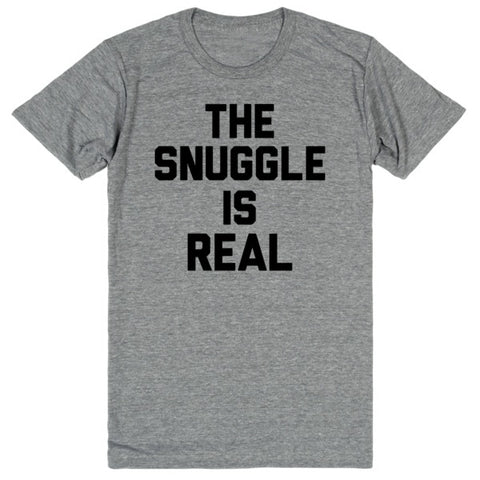 The Snuggle is Real | Unisex Gray T-Shirt | Eternal Weekend - 1