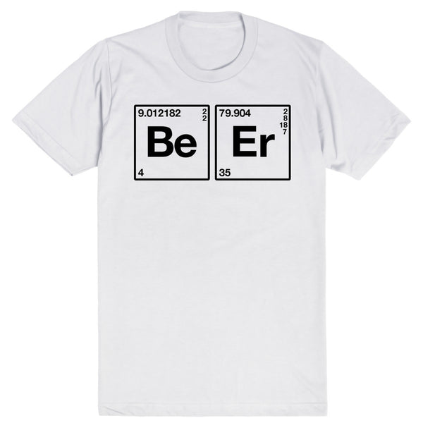 Beer on the Periodic Table of Elements | Unisex White T-Shirt | Eternal Weekend - 1