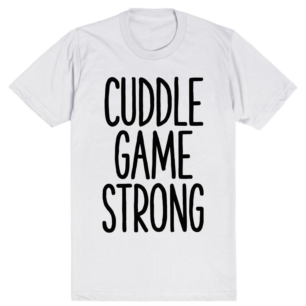 Cuddle Game Strong | Unisex White T-Shirt | Eternal Weekend - 1