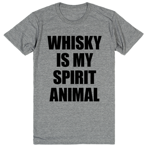 Whiskey Is My Spirit Animal | Unisex Gray T-Shirt | Eternal Weekend - 1