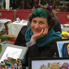 Cat Byrne comic artist and illustrator in Todmorden UK