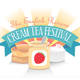 Commercial illustration - Cat Byrne - English Riviera Cream Tea Festival