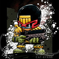 Judge Dredd by Cat Byrne