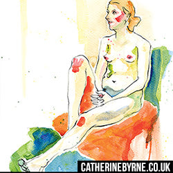 Figure drawing by Cat Byrne - Lisa 7