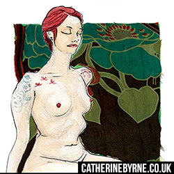 Figure drawing by Cat Byrne - Tasha 2