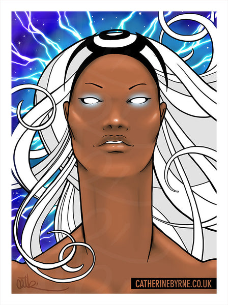 Storm fan art by Cat Byrne