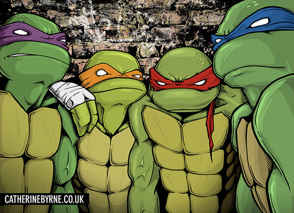 Group Shot - TMNT fan art by Cat Byrne