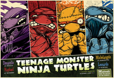 Teenage Monster Ninja Turtles (A3)