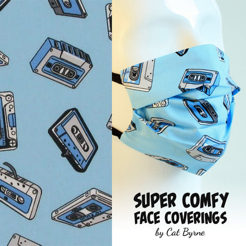 Cassette Tapes Face Covering