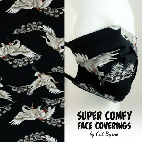 Silver Crane Face Covering