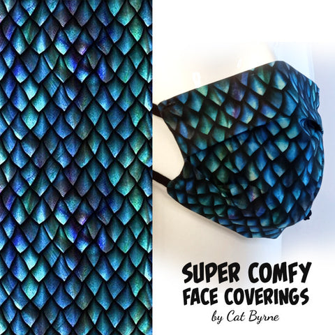 Dragon Scales Face Covering