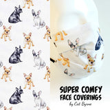 French Bulldogs Face Covering