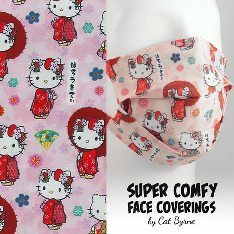 Hello Kitty Kimono Face Covering