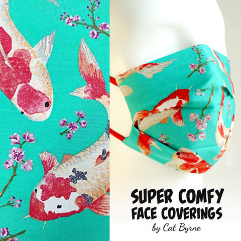 Koi Carps Face Covering
