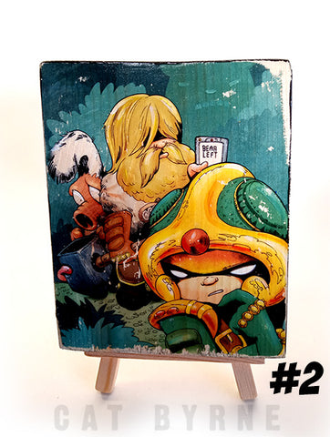 Strontium Dog - print on wood