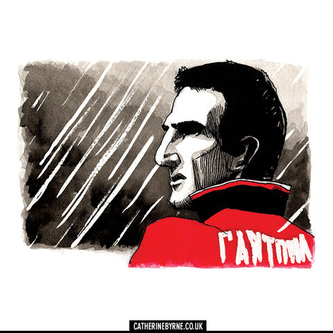 Mancunia - Eric Cantona limited edition art print by Cat Byrne