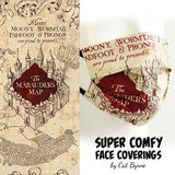 Marauders Map Face Covering