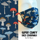 Mushrooms Face Covering