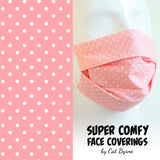 Pink Polka Dot Face Covering