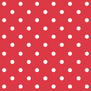 Red Polka Dot Face Covering
