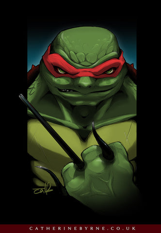 Psycho Raph - TMNT Raphael fan art by Cat Byrne