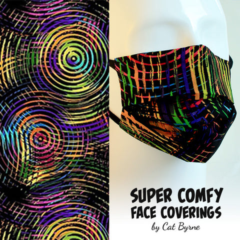 Rainbow Wax Face Covering