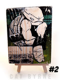 Raph in a mood - print on wood