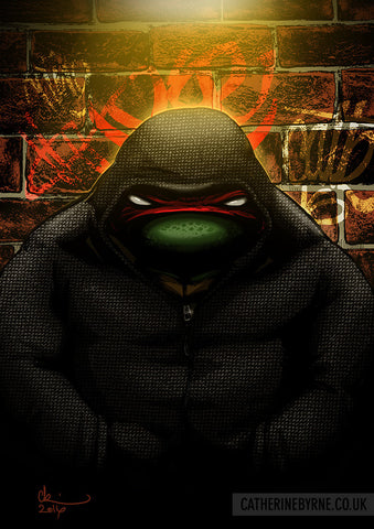 Raph Shady - TMNT Raphael fan art by Cat Byrne