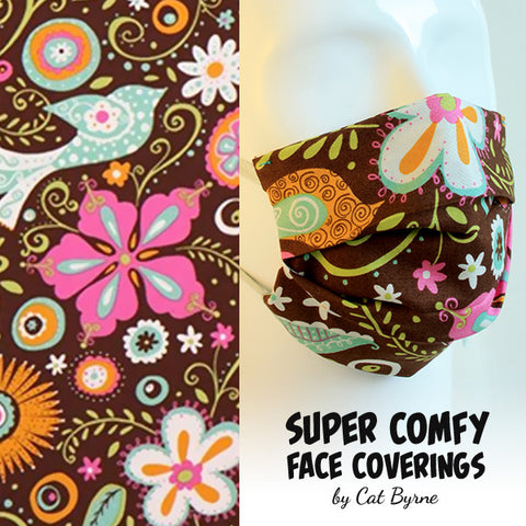 Retro Floral Face Covering
