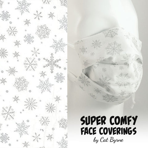 Silver Snowflakes Face Covering
