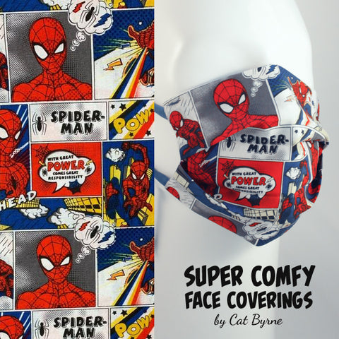Spider-man Comic Strip Face Covering