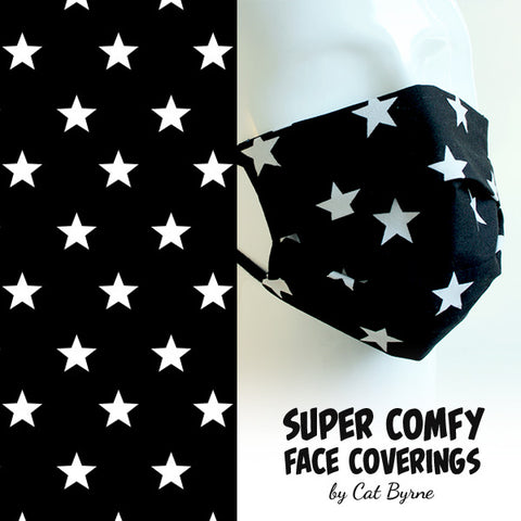 Black Stars Face Covering