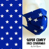 Blue Stars Face Covering