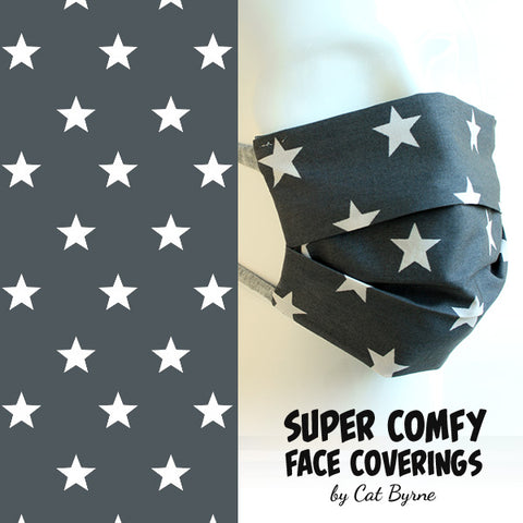 Grey Stars Face Covering
