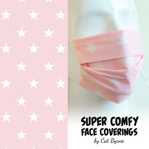 Baby Pink Stars Face Covering