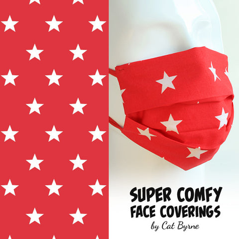 Red Stars Face Covering