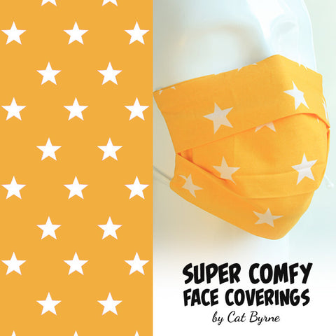 Yellow Stars Face Covering