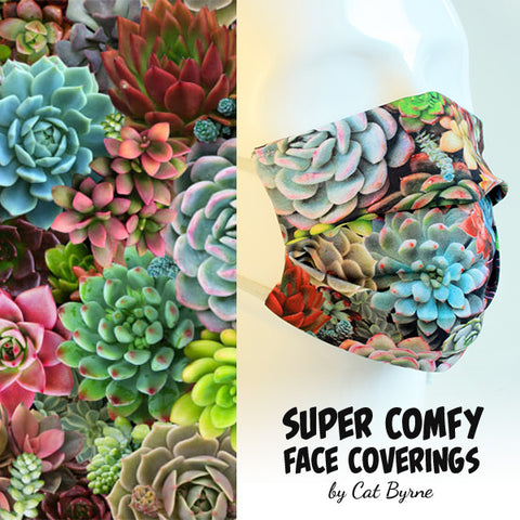Succulents Face Covering