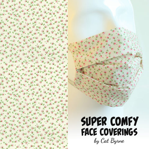 Tiny Pinks Floral Face Covering