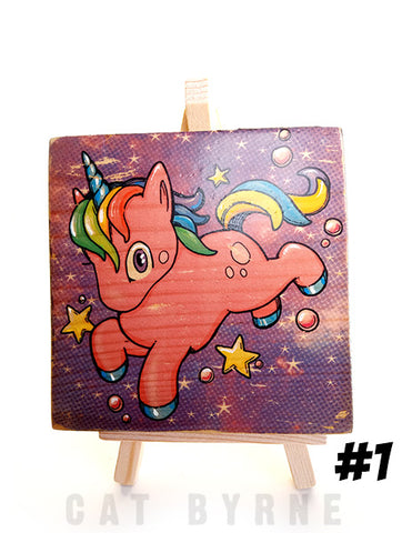 Unicorn - print on wood