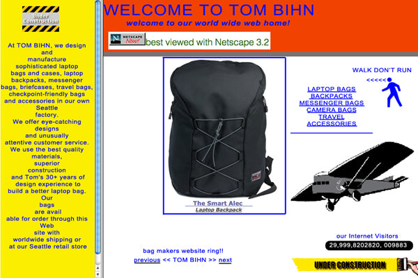 TOM BIHN April 1st website preview