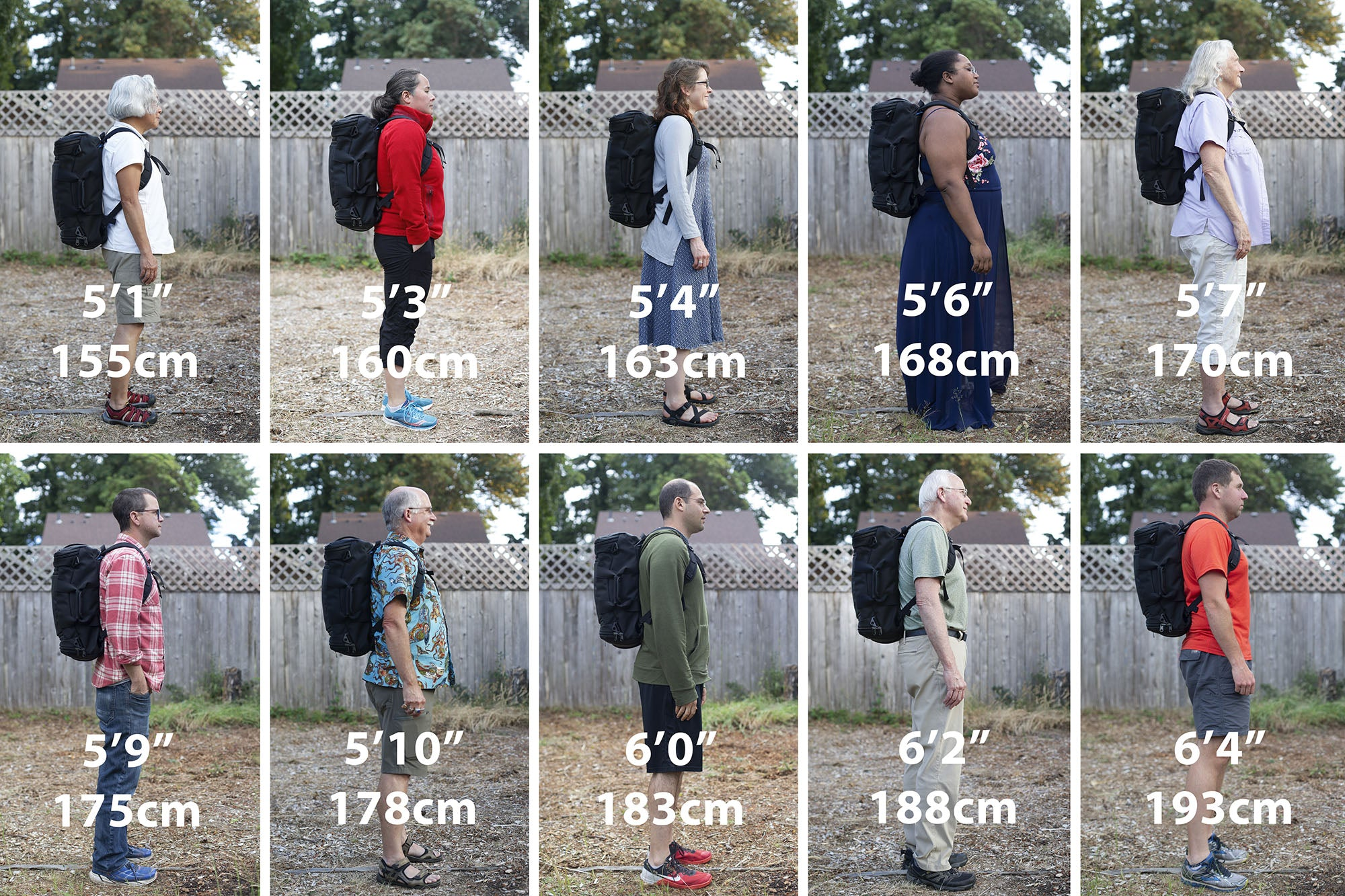 How the Aeronaut 30 fits various people