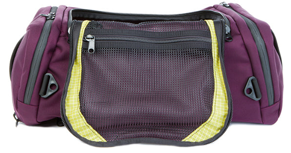 TOM BIHN Aeronaut travel bag in Aubergine