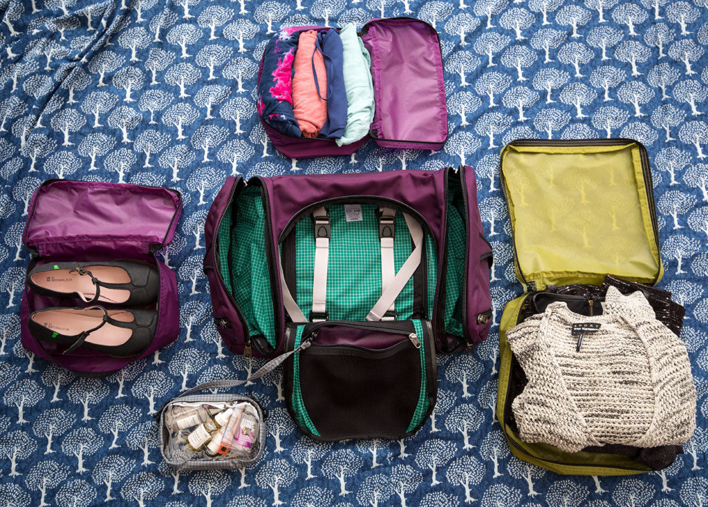 TOM BIHN Aeronaut 30 with Aether Packing Cubes